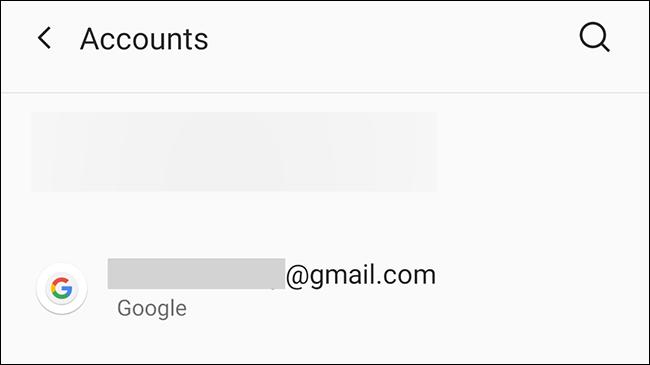 Alegeți contul Google în Android.