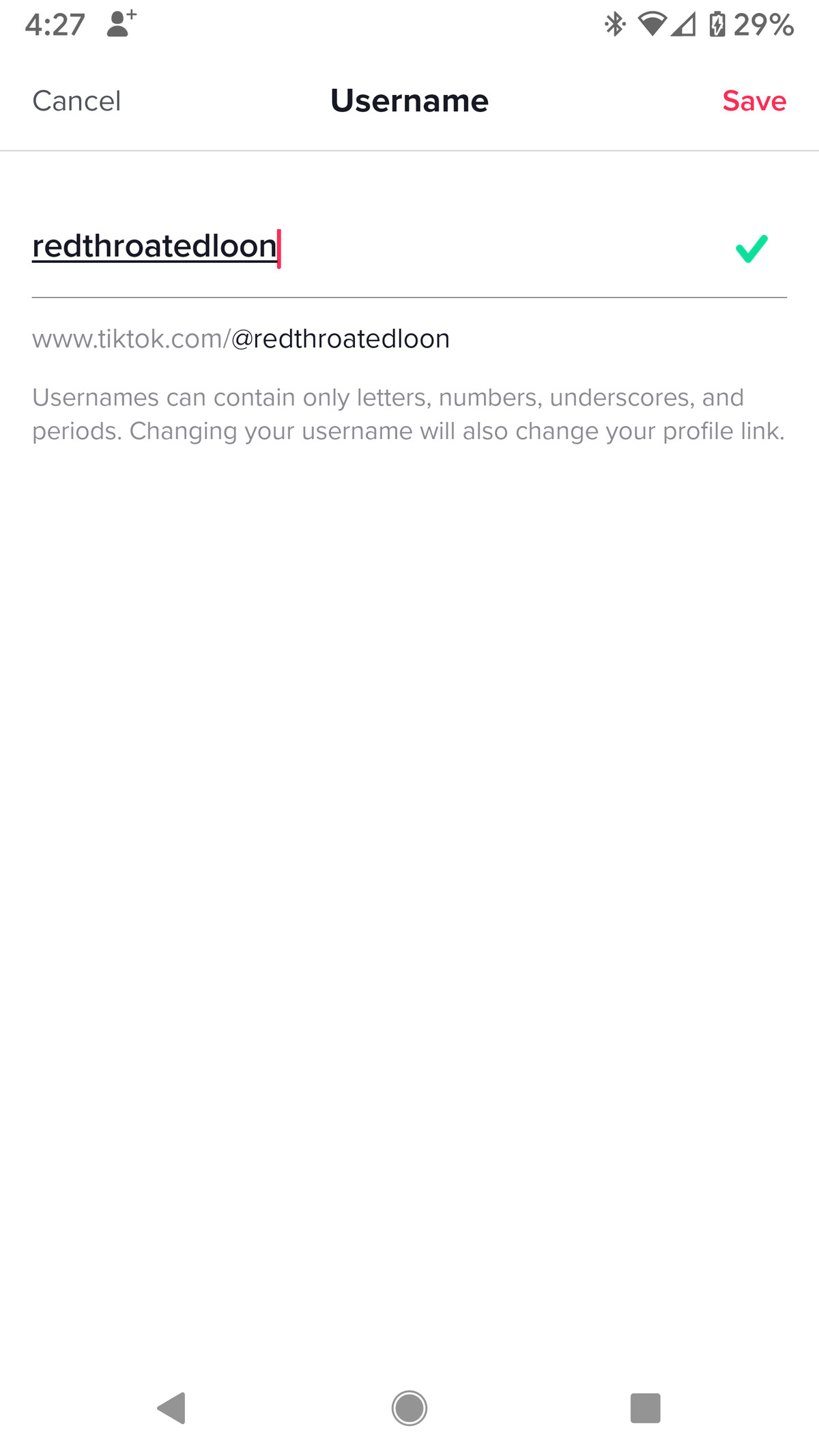 Vă puteți schimba numele de utilizator doar o dată la 30 de zile.