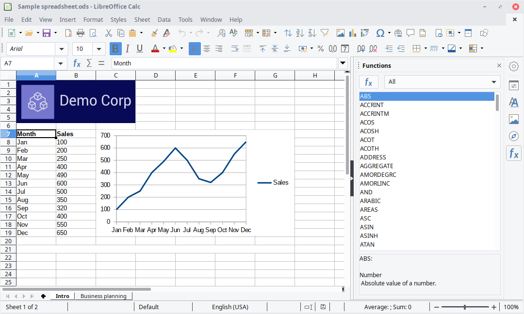 Foaie de calcul LibreOffice Calc