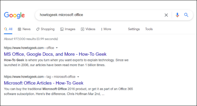 Căutare Google HowToGeek
