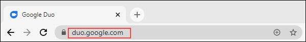 URL-ul site-ului web google duo