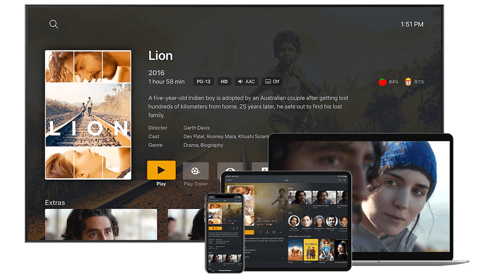 Plex pe televizor, laptop, tabletă și smartphone