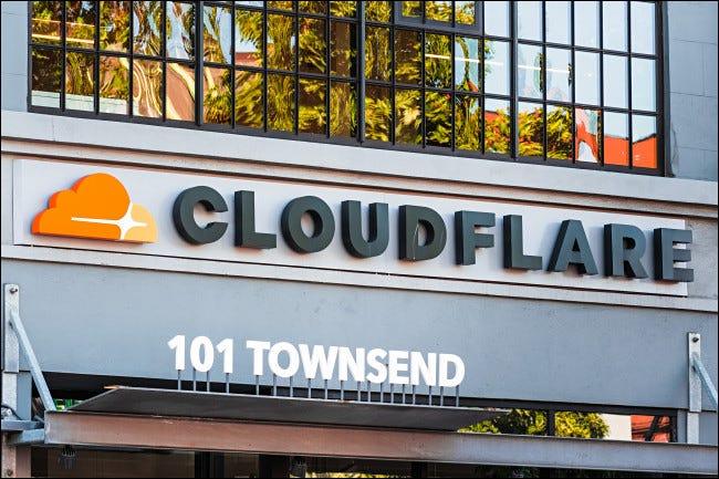 Frontul biroului Cloudflare.