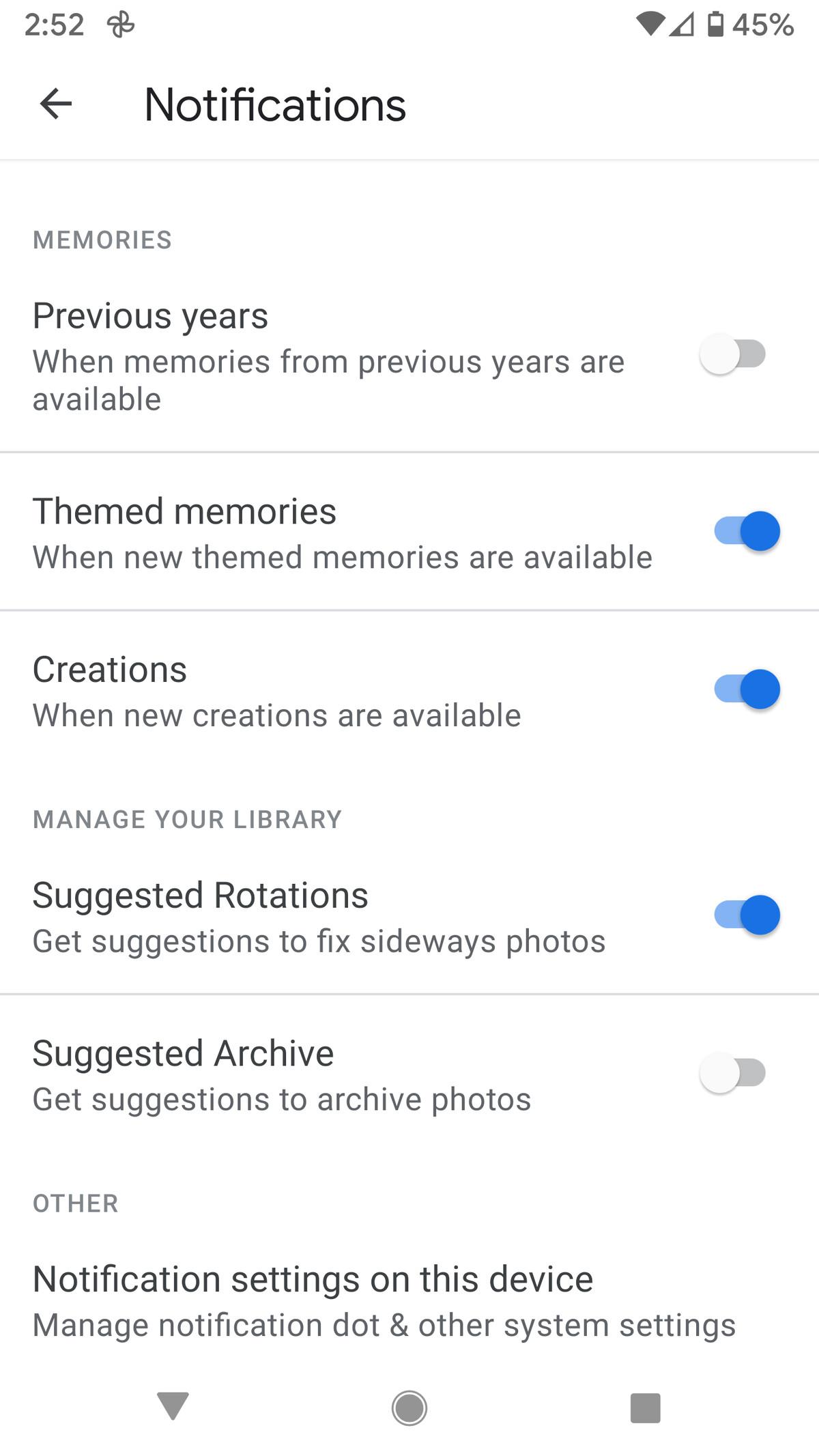 De asemenea, puteți alege când doriți să vedeți notificările Amintiri.