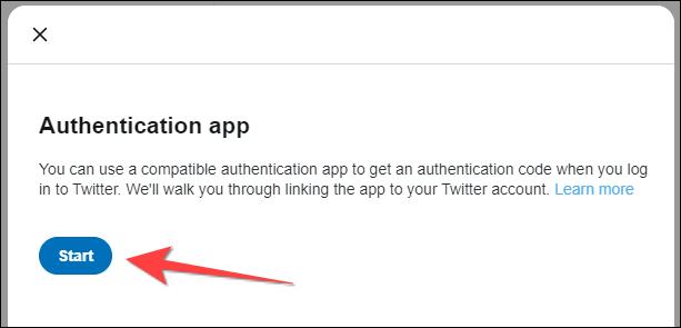 """Apasă pe """"start"""" butonul din fereastra pop-up a aplicației de autentificare."""
