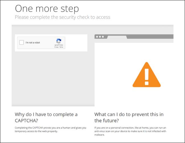 Captcha Screen Cloudflare încă un pas