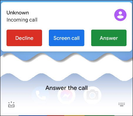Asistentul Google răspunde la apel.