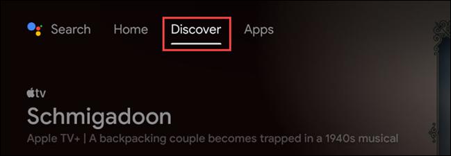 """Pentru a începe cu lista de urmărire, navigați la """"Descoperi"""" fila de pe ecranul de pornire."""
