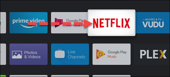 Acum utilizați butoanele direcționale de pe telecomandă pentru a muta aplicația din listă.