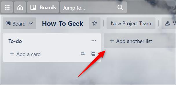 Faceți clic pe Adăugați o altă listă.