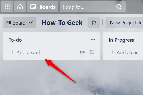 Faceți clic pe Adăugați un card.
