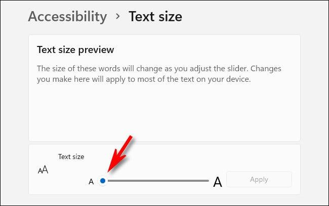 """Folosește """"Mărimea textului"""" glisor pentru a modifica dimensiunea fontului sistemului."""