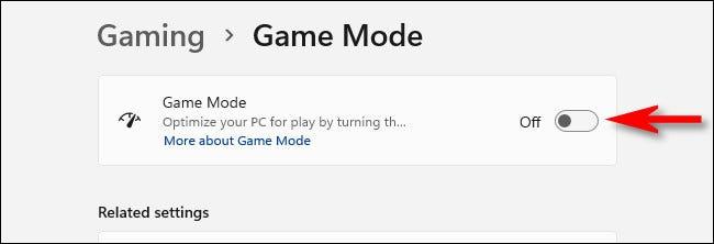 """Răsuciți comutatorul de lângă """"Mod de joc"""" la """"Dezactivat."""""""