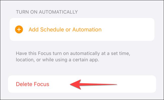 """Selectați """"Ștergeți Focus."""""""