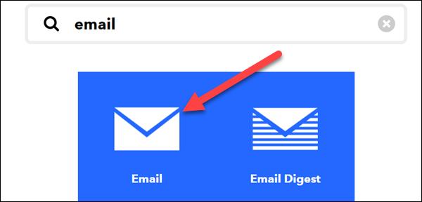 """Caută """"E-mail"""" și selectați-l."""