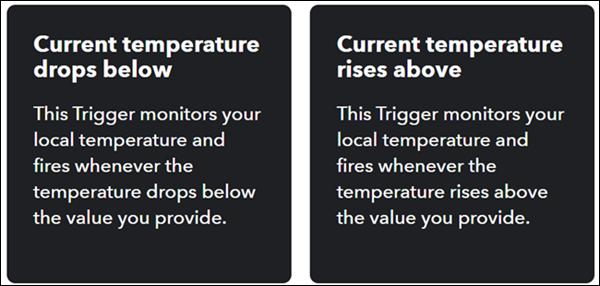 Alegeți o alertă de temperatură.