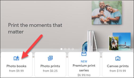 """Selectați """"Cărți foto."""""""