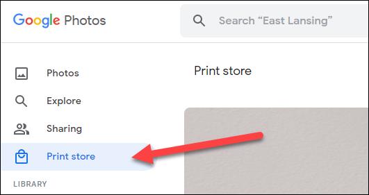 """Du-te la """"Magazin de tipărituri"""" filă."""